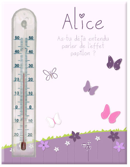 cadre thermometre fleurs et papillons With déco chambre bébé pas cher avec thermometre fleur beaba