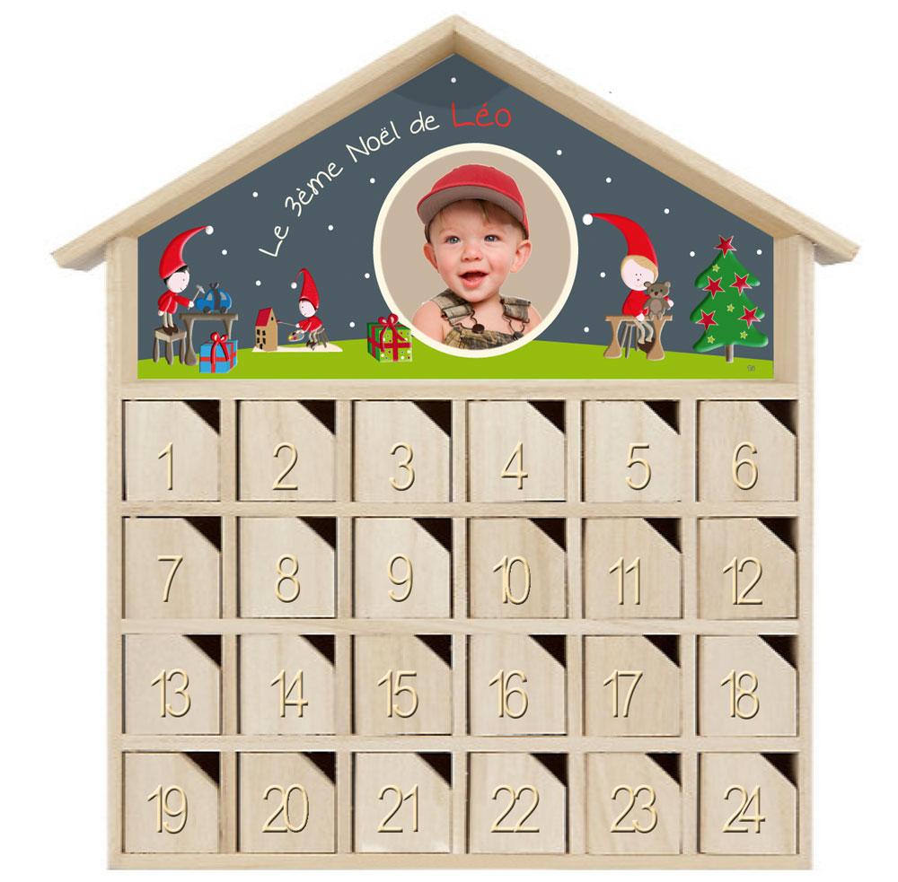 calendrier de l 39 avent personnalisable pour pr parer no l. Black Bedroom Furniture Sets. Home Design Ideas