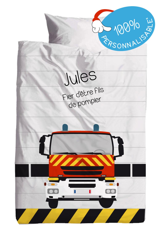 Housses de couette pompiers personnalis es - Housse de couette pompier ...