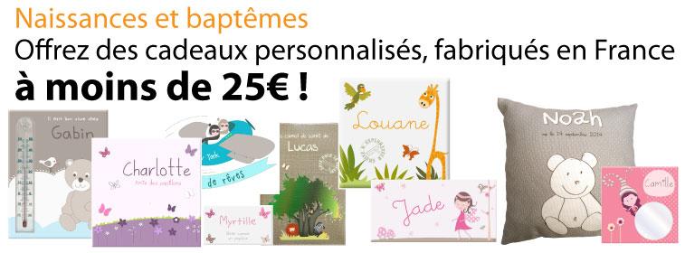 Des cadeaux de naissance personnalisés et made in France à petits prix
