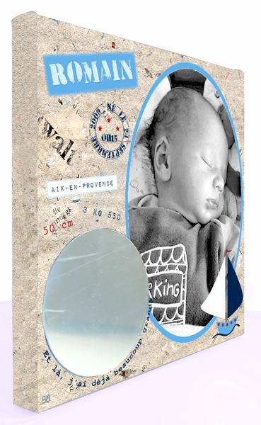 Cadre naissance bébé garçon