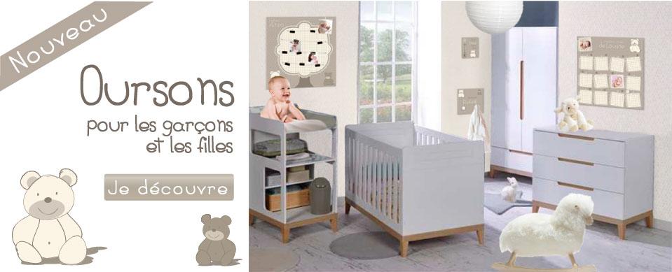 Nouvelle collection Oursons pour chambre bébé beige