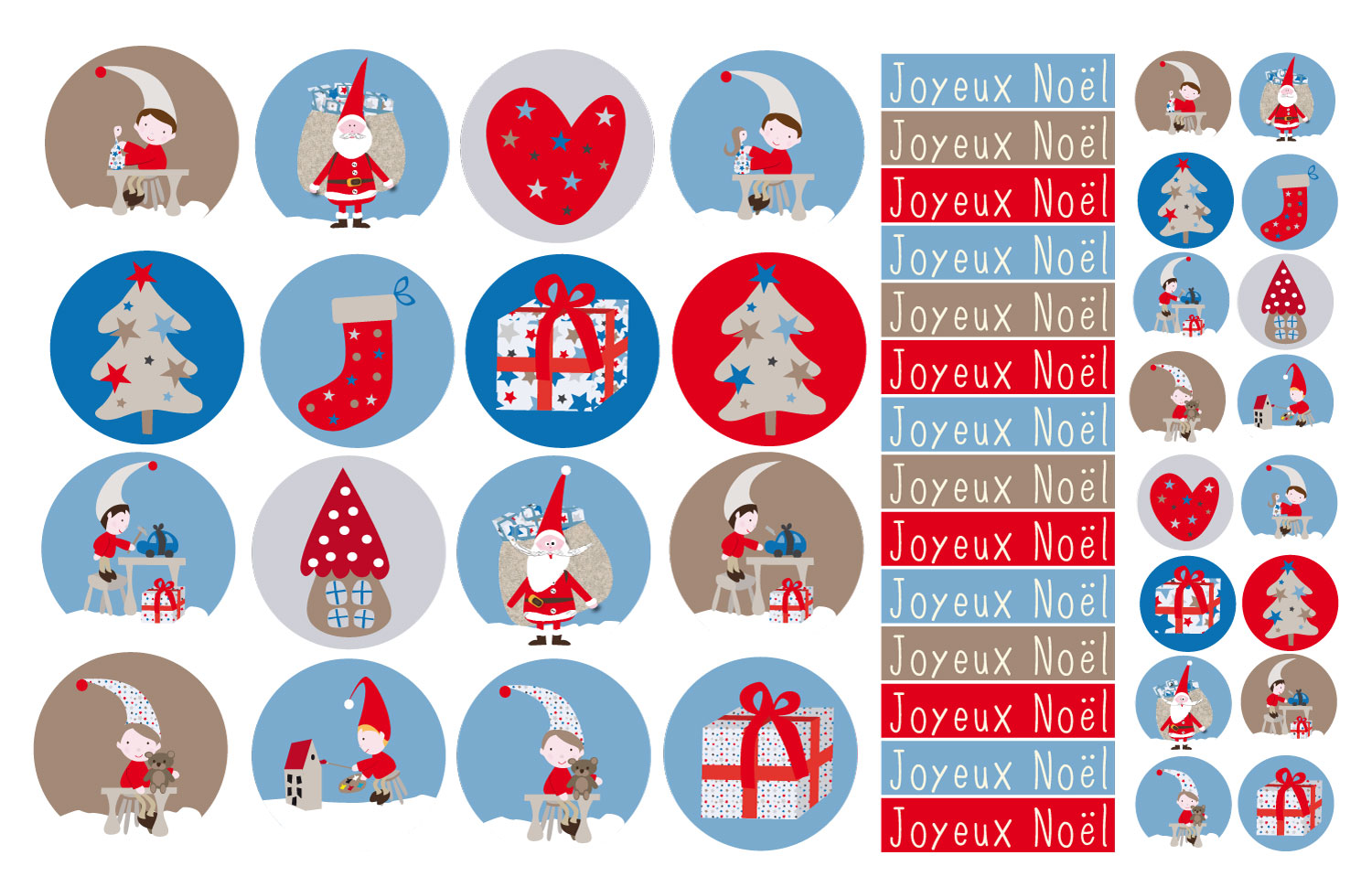 Planche stickers no l for Sticker fenetre noel