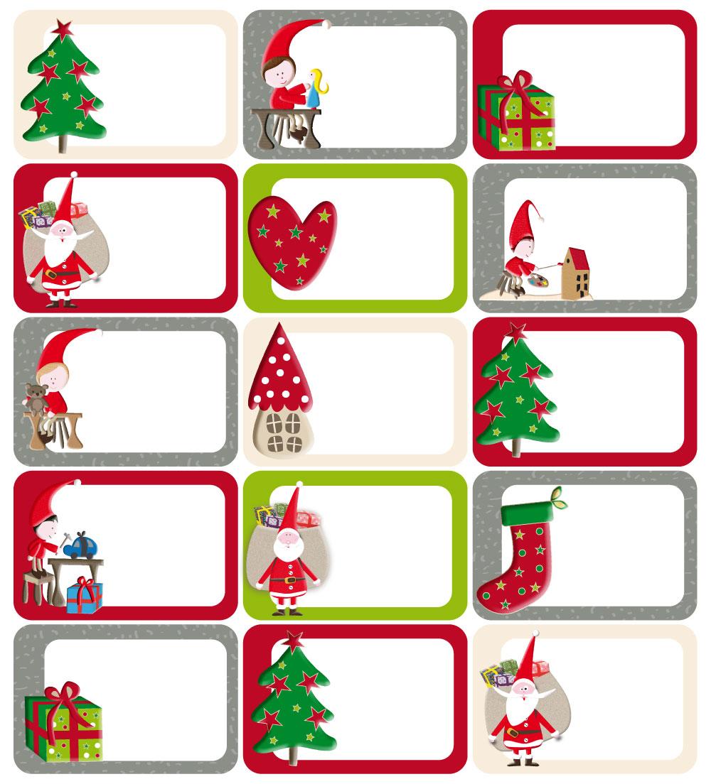 15 stickers tiquettes pour personnaliser vos emballages cadeaux de no l. Black Bedroom Furniture Sets. Home Design Ideas