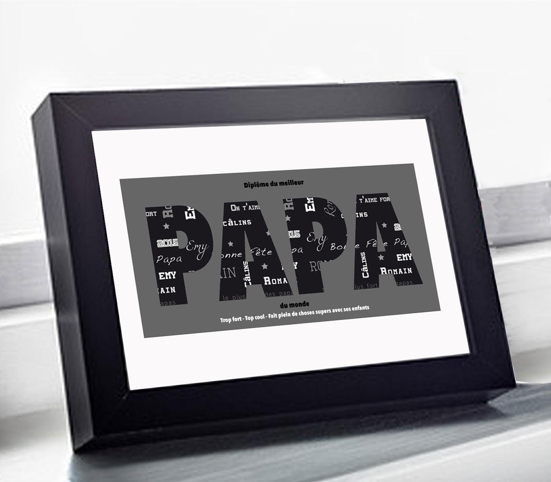 Diplome Du Meilleur Papa Design Et Personnalisable