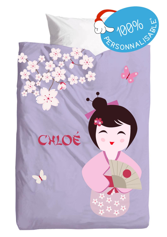 Housses de couette japon fille 100 personnalisable for Housse de couette tex