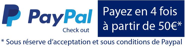 Avec PayPal payez jusqu'à 4 fois sans frais