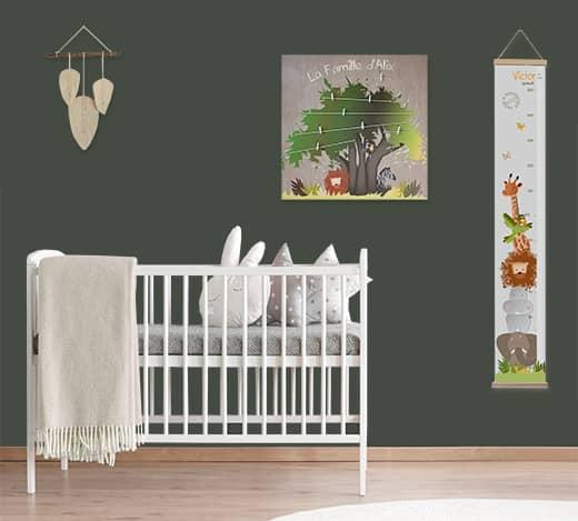 Chambre bébé jungle originale et personnalisable