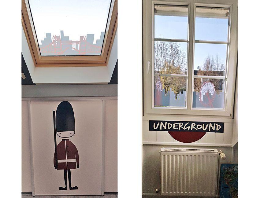 Habillages fenêtre sur le thème de Londres