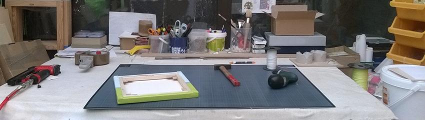 Zoom sur une partie de l'atelier Baby'Sphère