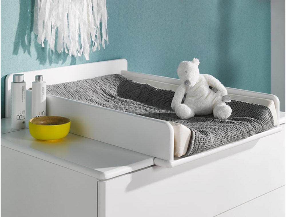 Plan à langer pour bébé accordé à la gamme HARMONIE blanc