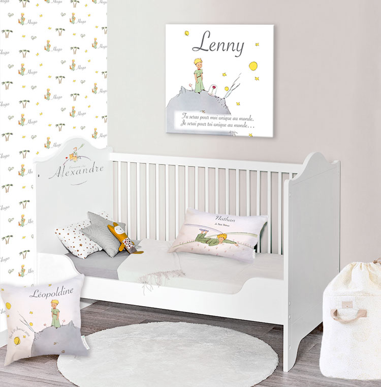 Décoration de chambre bébé Le Petit Prince personnalisée