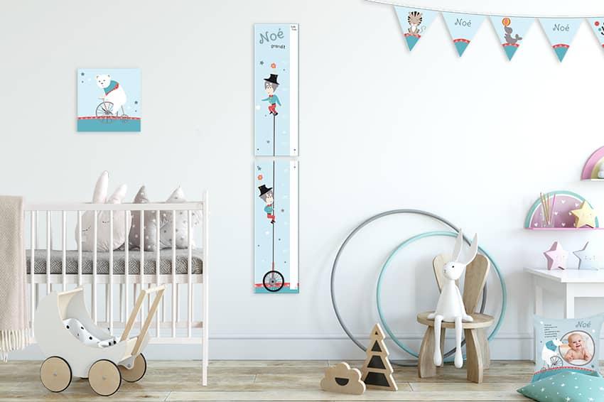 Décorez la chambre de bébé avec le monde joyeux du cirque Babigolo