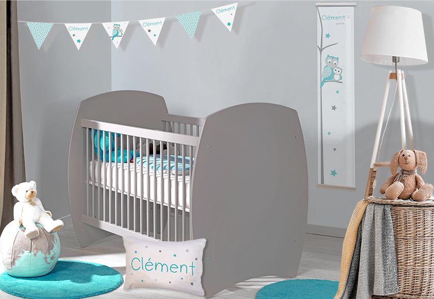 Chambre bébé tendance personnalisable hibou et étoiles