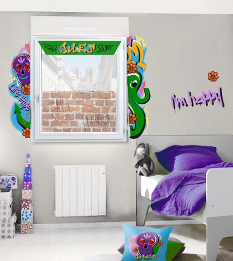 Habillage fenêtre street art