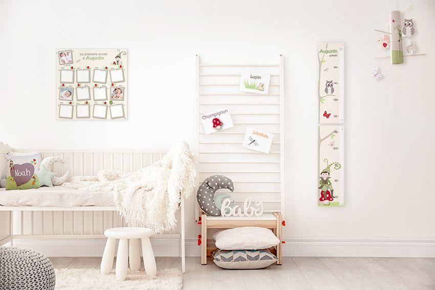 Chambre bébé garçon personnalisable nature avec lutins de la forêt