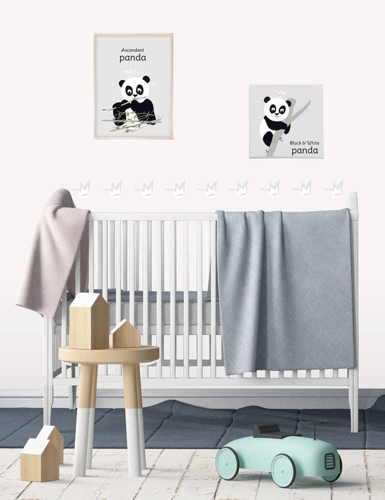 Déco panda pour déco de chambre bébé mixte