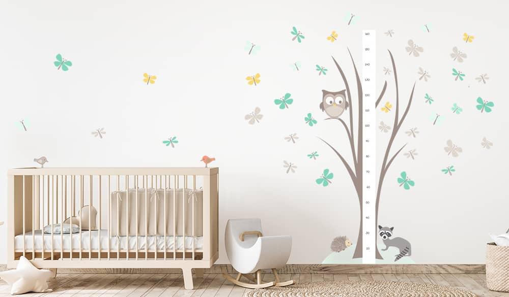 Déco chambre bébé mixte animaux de la forêt