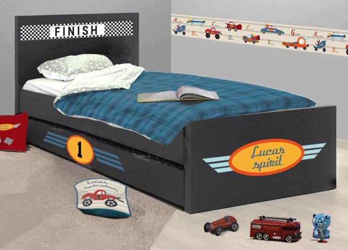 Habillage lit enfant voiture