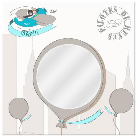 Nouveau : les miroirs personnalisés Une chambre de bébé ou d\'enfant ...