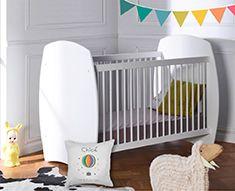 Lit à barreaux blanc EPURE pour chambre de bébé