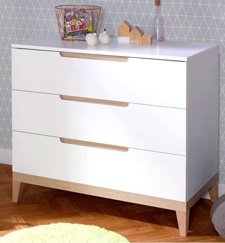 Commode 3 tiroirs banc et hetre collection NATURE