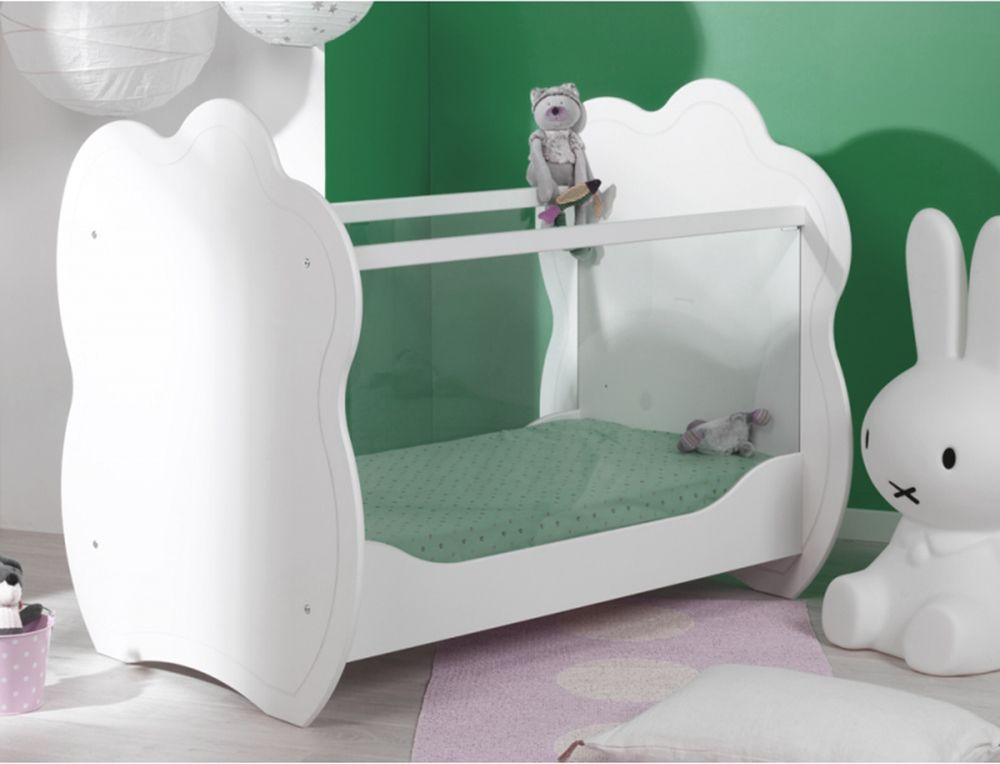 Lit bébé côtés en plexiglas chambre NIMBES
