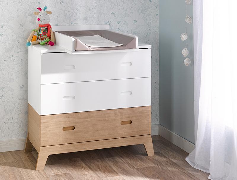 Commode 3 tiroirs chambre NORVEGE pour bébé