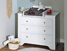 Commode 3 tiroirs select blanc