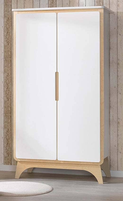 Armoire Svenska blanche et bois fermée