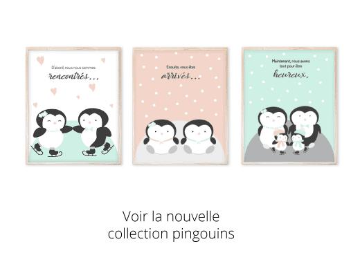 Une nouvelle collection pingouins pour décorer la chambre de bébé