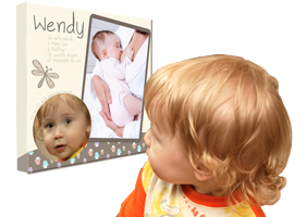 Cadre naissance avec miroir