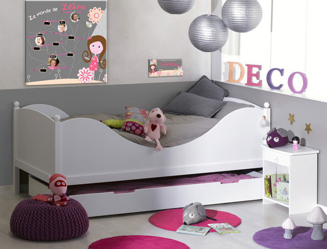 d coration univers de f e pour chambre de petite fille. Black Bedroom Furniture Sets. Home Design Ideas