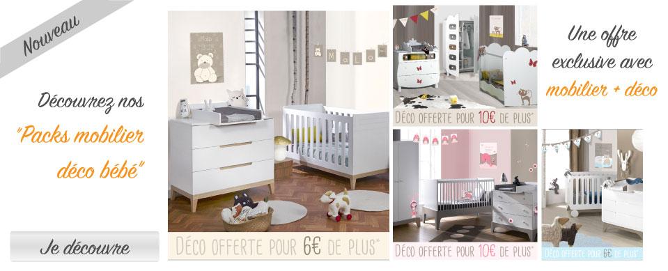 Des packs mobiliers exclusifs avec mobilier et décoration de chambre bébé
