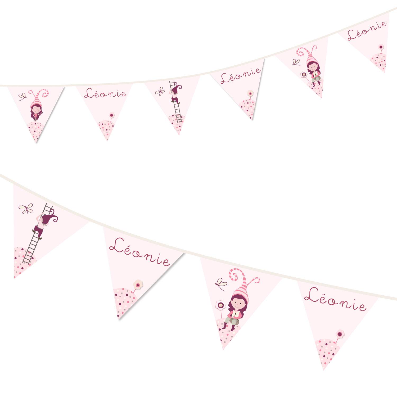 Guirlande personnalisée au prénom de bébé fille