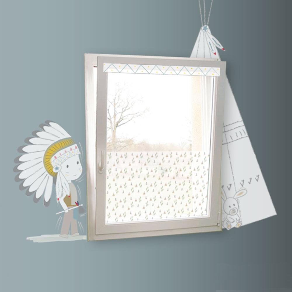 Pour remplacer les rideaux et voilages sur le thème des indiens