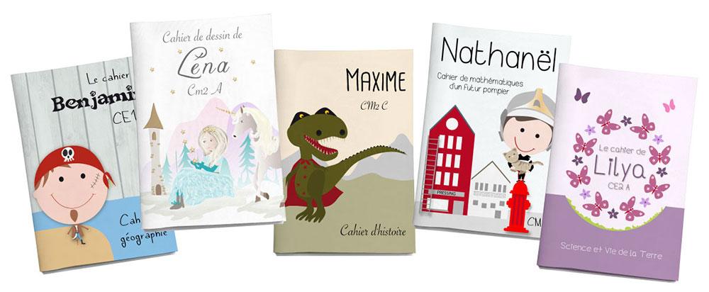 Des cahiers personnalisés pour l'école