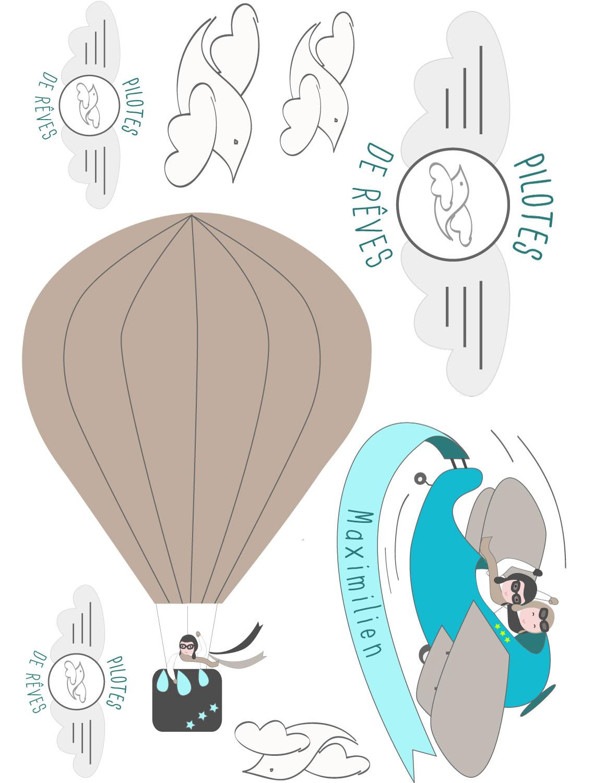 Sticker d'habillage de meuble pilote de rêves