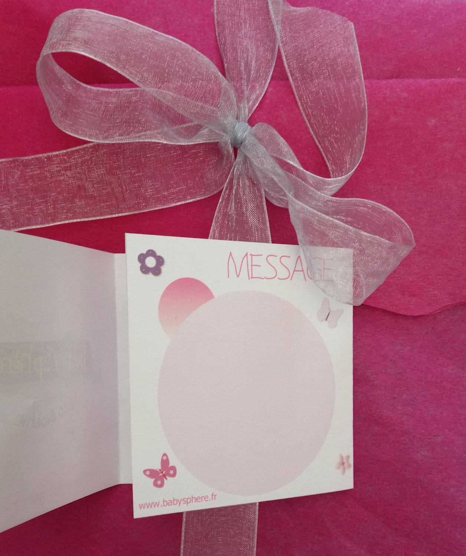 Chèques cadeaux pour une naissance
