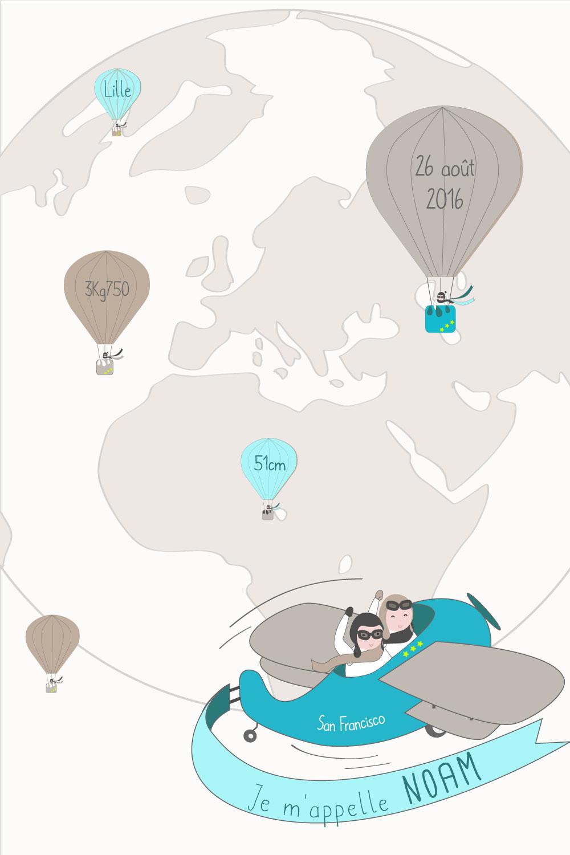 Affiche naissance pilote de reves