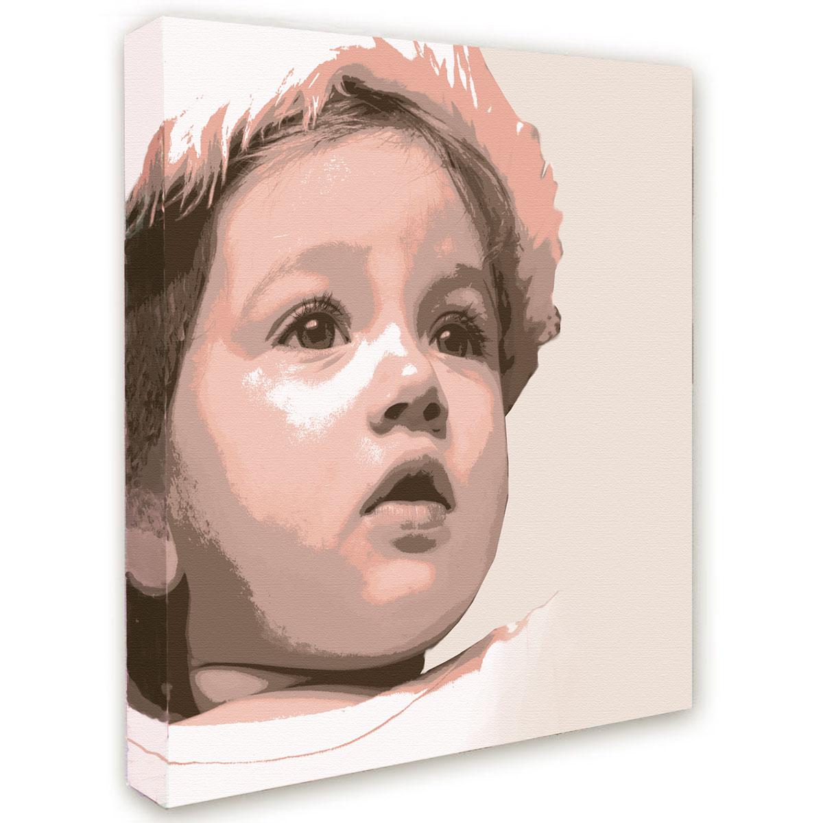 Photo pop'art bébé