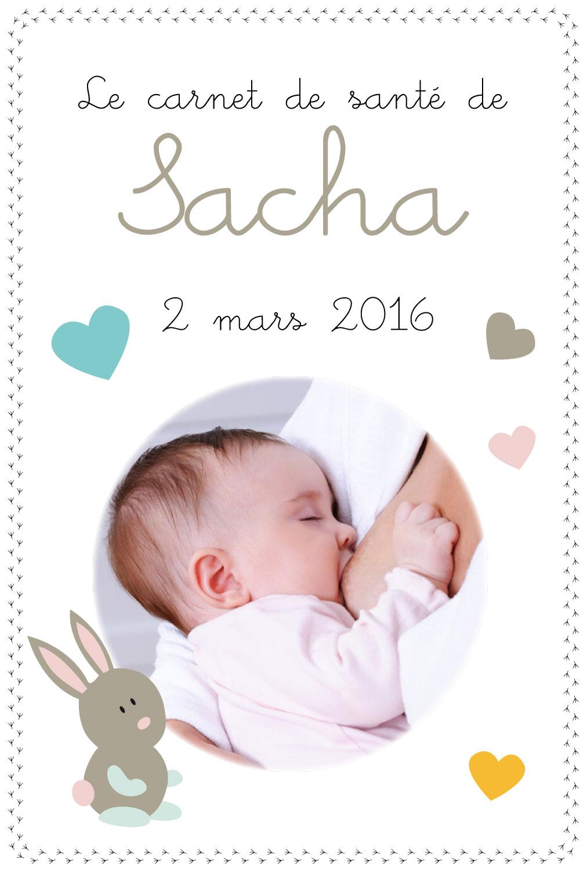 Un Protege Carnet De Sante Avec Photo De Bebe Animaux Et Coeurs
