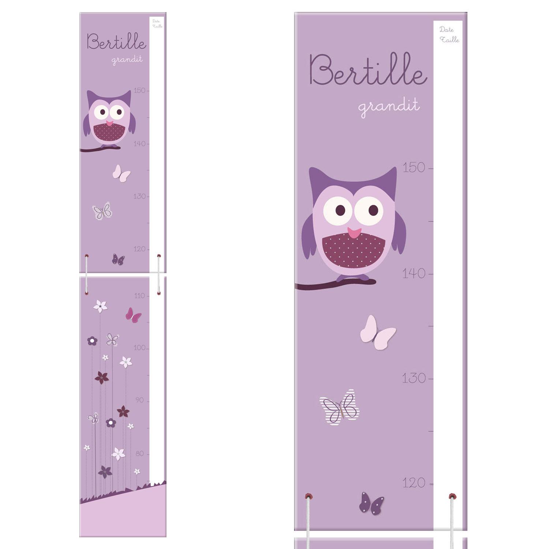 Toise originale violette et rose pour les petites demoiselles # Toise En Bois À Fabriquer