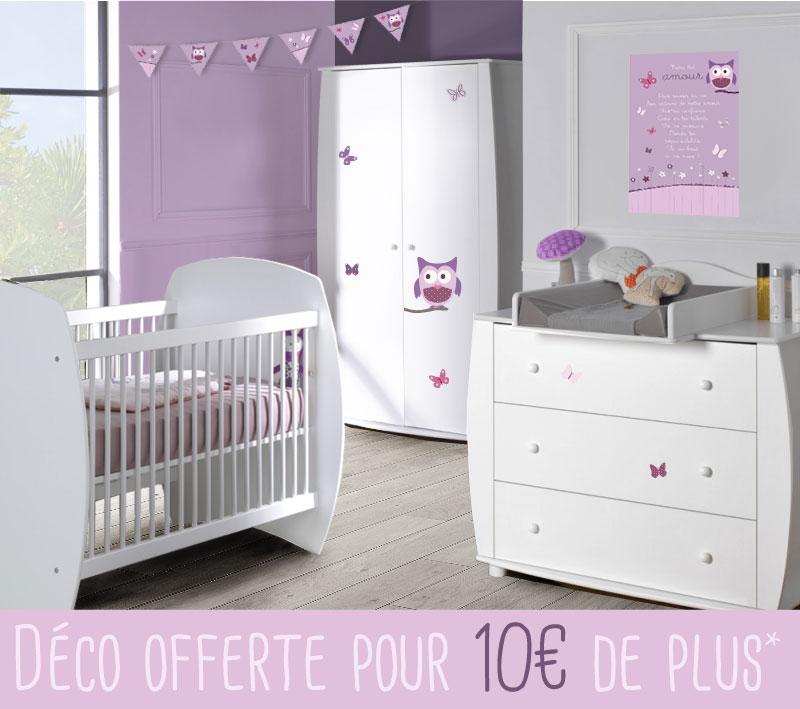 Attrayant Chambre Bébé Complète EPURE Et Déco Chouette Et Papillons