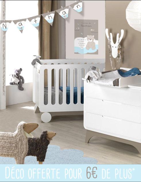 Parfait Petite Chambre Bébé SVENSKA Et Déco Ourson Et Nuage Bleu