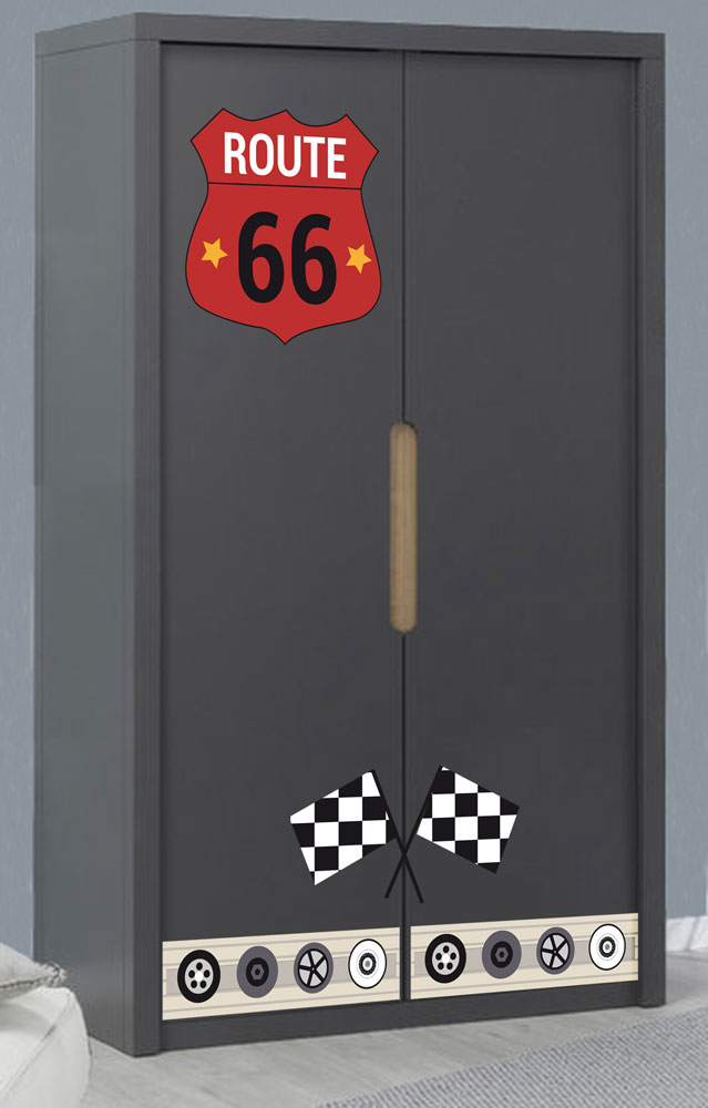 Stickers armoire Route 66