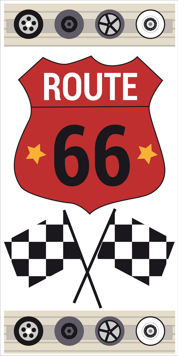 sticker route 66